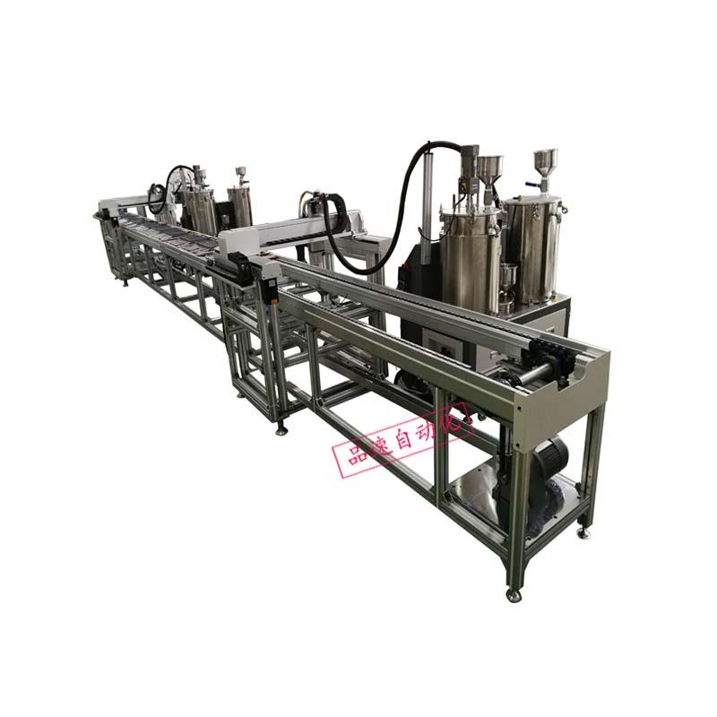 防水电源两级自动灌胶流水线