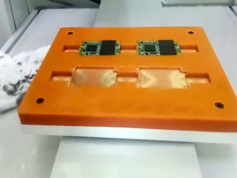 IC芯片三轴自动点胶机视频
