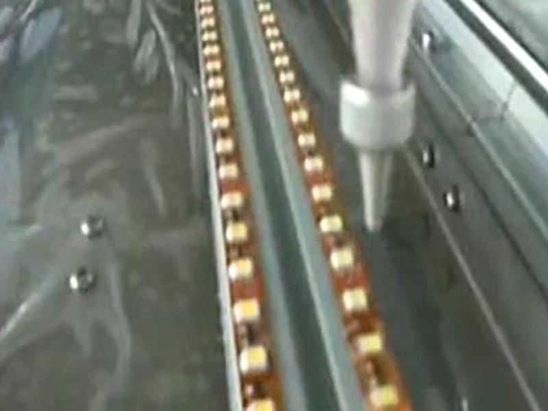 led软灯条滴胶机视频
