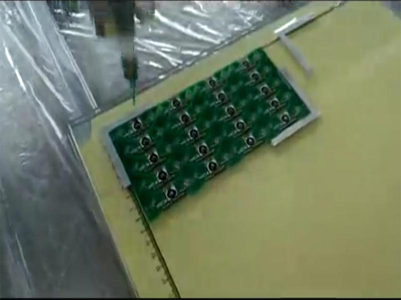 PCB板落地式自动点胶机视频