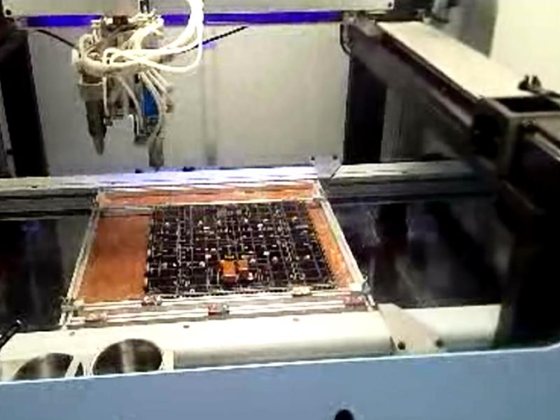PCB板三防漆涂覆机视频