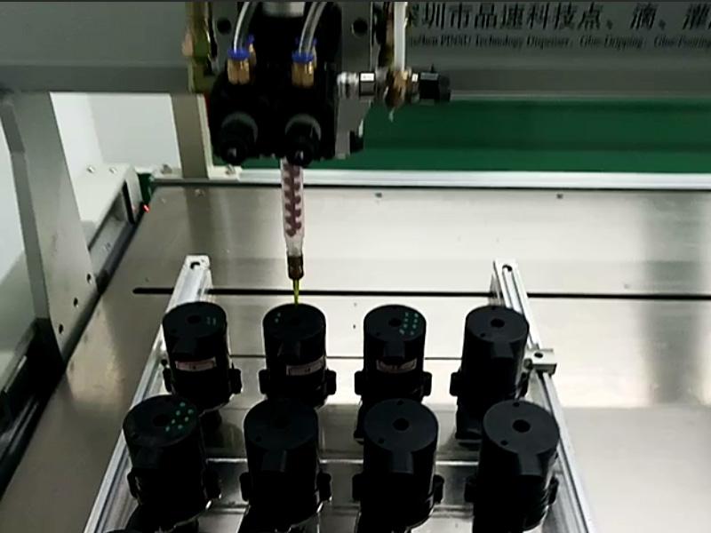 水泵落地式自动点胶机视频