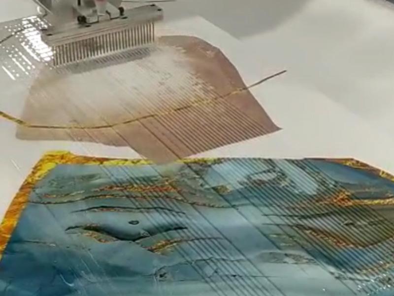 晶瓷画水晶封釉机视频