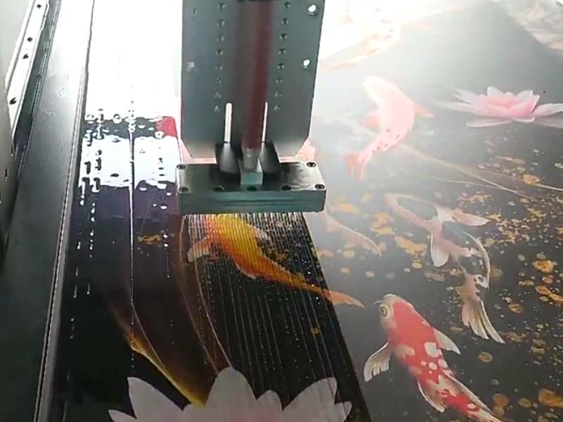 晶瓷画自动封釉淋胶机视频
