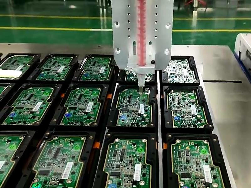 PCB板自动灌胶机视频