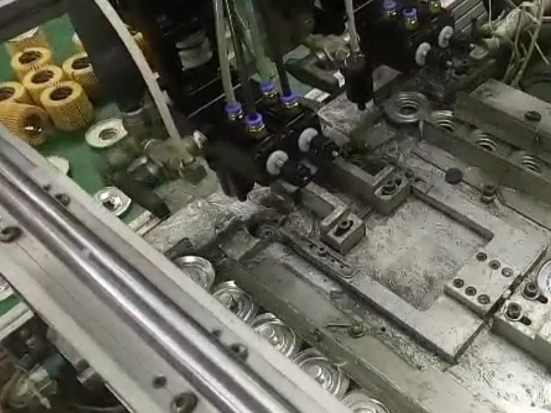 滤清器端盖双供胶系统灌胶机视频